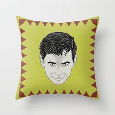 Psycho - Norman bates Throw Pillow by Francesco Dibattista - $20.00