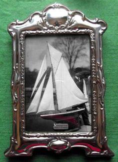 LARGE Edwardian Design  Hallmarked Sterling Silver Photo Frame Xmas Valentines