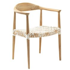 Artfully crafted of reclaimed teak wood, this chic arm features an intricately laced seat for a touch of breezy appeal.      Product: ...