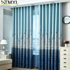 Boy Girl Bedroom Cortinas Living Room Blue/Pink Blackout curtains Custom Made Drapes Children Cloth Curtains For Kids Curtains Childrens Room, Kids Room Curtains, 3d Curtains, Black Curtains, Bedroom Drapes, Bedrooms, Closet Bedroom, Boy Girl Bedroom, New Year Wallpaper