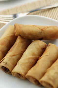 Sajgonki Spring Rolls, Ethnic Recipes, Food, Egg Rolls, Essen, Meals, Yemek, Eten
