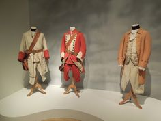 This assortment of 18th Century regimental soldier uniforms and an original costume worn by Ryan O'Neal as the titular 'Barry Lyndon' were designed by Milena Canonero and Ulla-Britt Soderland, who shared an Academy Award for Best Costume Design for the film.