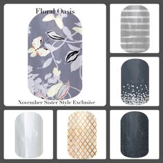 November Jamberry Sister Style Exclusive 2014!  Floral Oasis. Get it before it's gone! http://jeanettemayes.jamberrynails.net