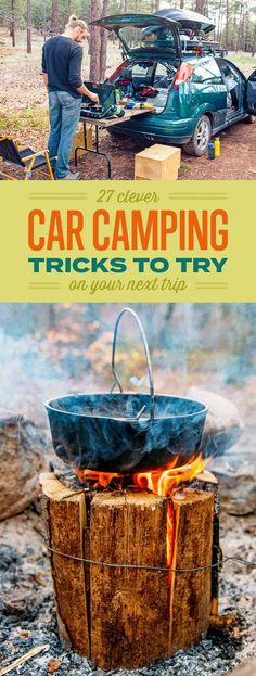 27 Clever Car Camping Tricks To Try On Your Next Trip - here is where you can fi. - 27 Clever Car Camping Tricks To Try On Your Next Trip – here is where you can find that Perfect G - Auto Camping, Camping And Hiking, Camping Hacks, Camping List, Camping Supplies, Camping Checklist, Camping Survival, Camping With Kids, Camping Meals