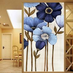 Cheap translucent window, Buy Quality opaque window film directly from China opaque film Suppliers: we can do customized size as request. Welcome for your inquiry~ when you place order, 1 Flower Painting Canvas, Canvas Art, Stained Glass Window Film, Flower Art, Wall Murals, Watercolor Art, Glass Art, Glass Film, Static Cling