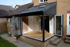 Pergola Against House Conservatory Dining Room, Lean To Conservatory, Conservatory Extension, Conservatory Interiors, Conservatory Ideas, House Extension Plans, House Extension Design, Garden Room Extensions, House Extensions