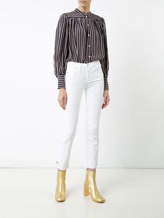 Frame Denim high-rise cropped jeans