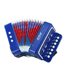 Take a look at this Blue Toy Button Accordion on zulily today!