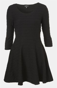 $50 Topshop Textured Skater Dress available at #Nordstrom