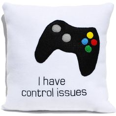 Computer Gamer Pillow ($35) ❤ liked on Polyvore featuring home, home decor, throw pillows, decorative pillows, home & living, home décor, light yellow, cow home decor, turtle home decor and sea turtle home decor