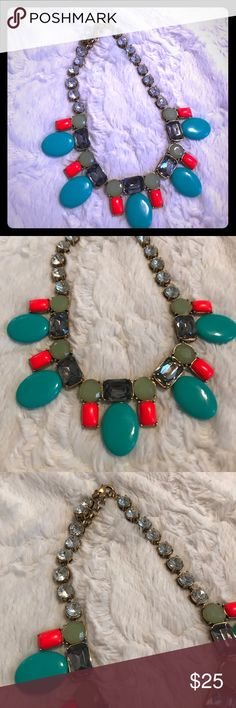 J. Crew Turquoise Beaded Statement Necklace J. Crew Turquoise Beaded Statement Necklace J. Crew Jewelry Necklaces