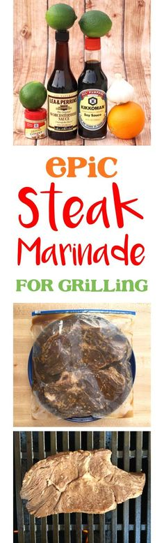 Steak Marinade Recipes!  This easy marinade makes the BEST steak ever... go fire up the grill and get ready for epic flavor!   TheFrugalGirls.com