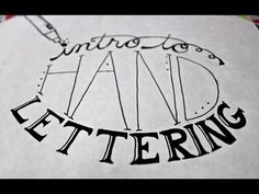 Intro To Hand Lettering | Made By Marzipan