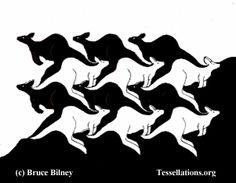 realistic kangaroo flip (mirror) tessellation