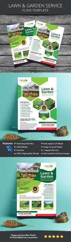 Lawn & Garden Services Flyer Template File variation designAll Text EditablePhotoshop PSD FileSize Bleed area DPICMYKChange image via Smart Objectimage are not includedFree Fontopen-sans exoHope you like it Site Plan Design, Garden Paving, Garden Grass, Lawn Mower Maintenance, Lawn Care Business Cards, Garden Site, Garden Quotes, Tree Wall Art, Business Flyer Templates