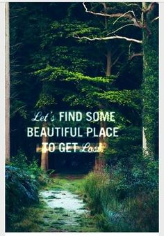 Get lost in practicing yoga in nature as we lead the way! Join us this weekend for an invigorating yoga hike! #yoga ~ #quote ~ #hiking