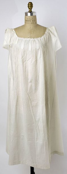 Chemise  Date: ca. 1862  Culture: American  Medium: cotton Dimensions: [no dimensions available]  Credit Line: Gift of Mr. Edwin J. Gutman, 1944  Accession Number: C.I.44.93.4  Metropolitan Museum of Art