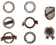 8 Grunge Badge Stamp Vector Pack - http://www.dawnbrushes.com/8-grunge-badge-stamp-vector-pack/