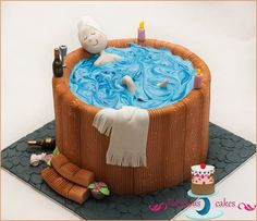 jacuzzi cake from Fabulous Cakes