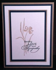 love & sympathy by stampin up - Google Search