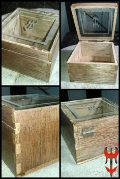 Caja con material rehusado.