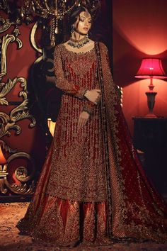 Barat bridal inspo ( dress is Aisha imran ) Latest Bridal Dresses, Asian Wedding Dress, Pakistani Wedding Outfits, Pakistani Wedding Dresses, Bridal Outfits, Indian Dresses, Asian Bridesmaid Dresses, Bride Dresses, Indian Outfits