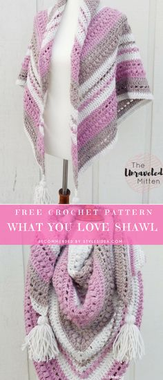 Crochet → Shawls Wrap | free size | Written | US Terms Level: beginner  hook: 5.5 mm (I) yarn: Lion Brand Author:  by Heather J Anderson  #crochetfreepatternsforlady #crochetfreepatternforshawls #crochetfreepatternfortunic #crochetshawl