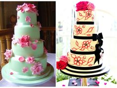 Colorful cakes beautiful