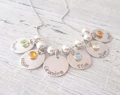 Hey, I found this really awesome Etsy listing at https://www.etsy.com/listing/129798382/personalized-mom-necklace-grandma-family