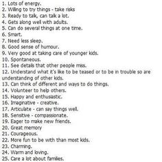 characteristics of children (and adults) with ADHD if no one has yet murdered 1-25