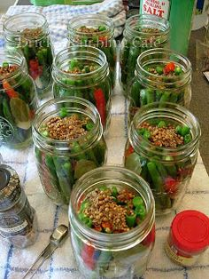 Drick's Rambling Cafe: Spicy Pickled Green Beans