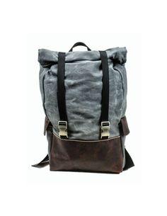 Waterproof Waxed Canvas Rolltop Rucksack 22 Liter laptop backpack on Etsy, $205.00