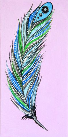 Alisa Burke - pintura original de la pluma