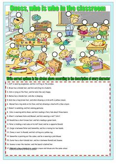 who is who in the class worksheet - Free ESL printable worksheets made by teachers