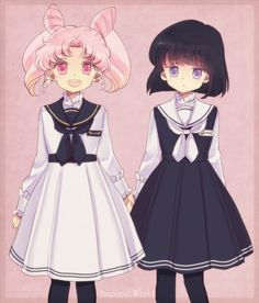 Chibi-usa and Hotaru! I wish they could have an episode all about their friendship!
