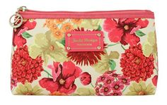Coral Floral Functional Cosmetic Bag - Gorgeous - FREE SHIPPING
