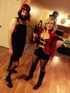 Ring Master and the Bearded Lady Halloween Costume
