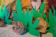 Ideas for paper shrubbery, bushes, and rocks for Shipwrecked VBS. Explore more decoration ideas at Concordia Supply!