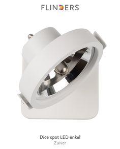 Ontdek dit product dat ik heb gevonden in de Flinders app:  Dice spot LED enkel http://www.flinders.nl/zuiver-dice-spot-led-enkel