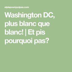 Washington DC, plus blanc que blanc! | Et pis pourquoi pas?