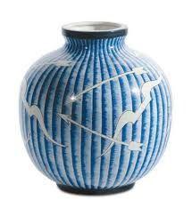 Glazed ceramic vase by Gio Pontifor Richard Ginori.  Italy, c. 1950.
