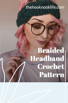 Make this cute and cozy braided headband using this free crochet pattern on The Hook Nook Life Blog now! Diy Crochet Patterns, Craft Patterns, Easy Crochet, Crochet Stitches, Crochet Hooks, Crochet Projects, Free Crochet, Diy Crafts List, Headband Pattern