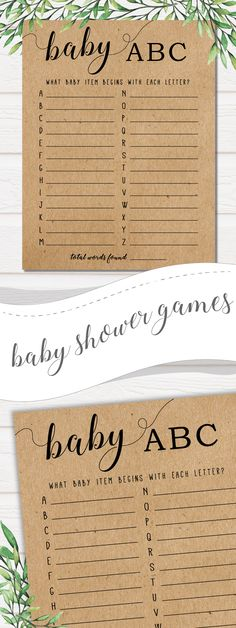 I said we weren't going to do games- but I really like this one! Fits the rustic, greenery, modern look that we are going for. Baby shower games,baby shower,baby shower favors,baby shower ideas,baby shower invitations,ballerina baby shower,baby shower decorations