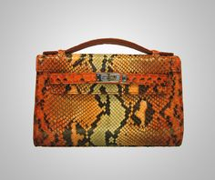 Genuine python skin mini kelly handbag