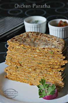in Detail: Chicken Keema Parantha ~ Lincy's Cook Art Indian Food Recipes, Asian Recipes, Gourmet Recipes, Vegetarian Recipes, Cooking Recipes, Healthy Recipes, Chilli Recipes, Duck Recipes, Flour Recipes