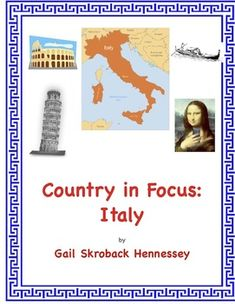Studying the Ancient Romans? Looking for a Friday Activity to introduce students to countries of the world? Part of my Country in Focus Series, this web quest covers the country of Italy and the ancient Romans. Students will learn about the contributions of the people from Italy, famous people, places to visit and more.