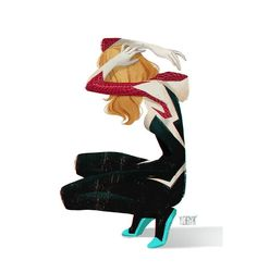 @YingjueChen A #SPIDERGWEN illustration just for funsies. Such an awesome design.