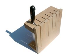 Coolest DIY knife block ever.  Gonna make it this weekend!