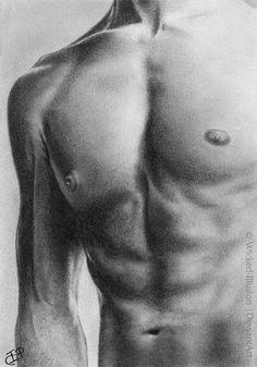 Like a Steel by Wicked-Illusion.deviantart.com on @DeviantArt #pencildrawing #graphitedrawing #art #torso #sixpack #muscles #anatomy #maleanatomy #body