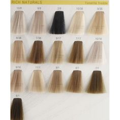 Rich Naturals Tonalita Fredde color chart Colors: 10/8 , 9/8 , 2/8, 10/38, 9/38, 8/38, 7/38, 9/17, 7/17, 19/16, 9/16, 11/1 , 9/1 ,8/1 ,7/1 ,6/1 Very beautiful hair colors appear natural. You can...Share the joy